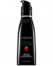 Wicked Sensual Care Aqua Waterbased Lubricant - 2 oz Candy Apple