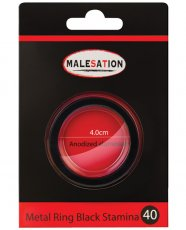 Malesation Nickel Free Metal Ring Black Stamina - 40 mm