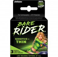 BARE RIDER SENSITIVE THIN 3PK