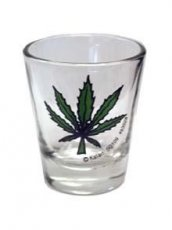 POT LEAF SHOT GLASS