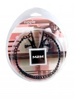 NIPPLE CLAMPS ALLIGATOR W/CHAIN BLACK