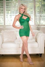 CHEMISE & G STRING GREEN LARGE