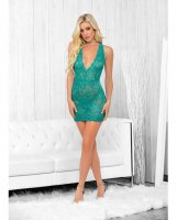 Strappy Back Chemise Caribbean Green LG