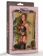 CLUB SEAMLESS GARTERED CATSUIT O/S