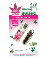 High Climax Vibrating Bullet Stimulating Kit w/Hemp Seed Oil - Silver