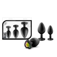 LUXE BING PLUGS TRAINING KIT BLACK W/RAINBOW GEMS