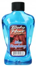 BODY HEAT WARMING MASSAGE LOTION BLUE RASP