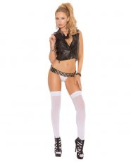 Opaque Thigh High White O/S