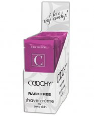 (D) COOCHY SHAVE CREAM BLUSH 24PC DISPLAY