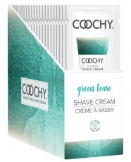 COOCHY SHAVE CREAM GREEN TEASE FOIL 15ML 24PC DISPLAY