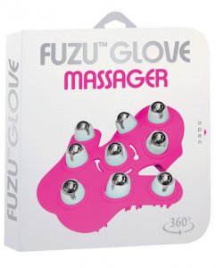 Fuzu Glove Massager - Neon Pink