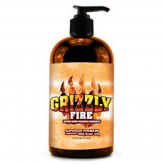 (D) GRIZZLY FIRE SUPERIOR PREM WARMING LUBE 17.5 OZ