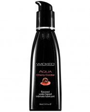 Wicked Sensual Care Aqua Waterbased Lubricant - 2 oz Cherry Cordial