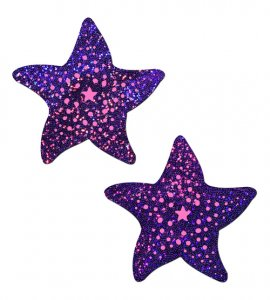 PASTEASE TWINKLING PURPLE & PINK STARFISH