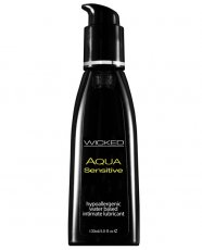 Wicked Sensual Care Hypoallergenic Aqua Sensitive Waterbased Lubricant - 4 oz Unscented