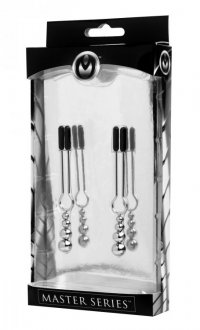 MASTER SERIES ADORN TRIPLE BEAD NIPPLE CLAMP SET