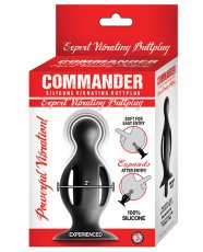 COMMANDER EXPERT VIBRATING BUTT PLUG BLACK