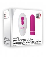 Adam & Eve Eve's Rechargeable Remote Control Bullet - Pink/White