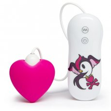 TOKIDOKI 7 FUNCTION SILICONE PINK HEART CLITORAL VIBRATOR (NET)