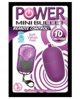 Power Mini Bullet Remote Control - 10 Function - Purple