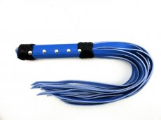 WHIP LEATHER STRAP 20 BLUE ""