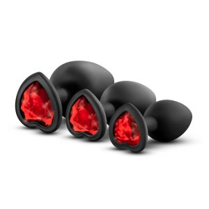 LUXE BLING PLUGS TRAINING KIT BLACK W/RED GEMS