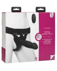 Body Extensions Be Risque Vibrating 2 Piece Strap On Set - Black