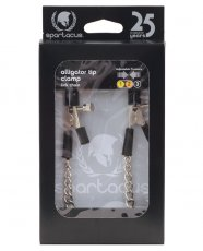 Spartacus Adjustable Alligator Nipple Clamps w/Link Chain