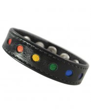 RAINBOW RING LEATHER W/ 5 SNAPS BLACK