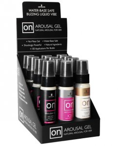 On Arousal Gel for Her Display - Asst. Flavors Box of 12