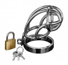 MASTER SERIES CAPTUS STAINLESS STEEL CHASTITY CAGE