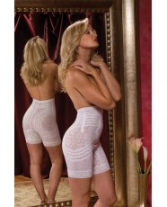 Rago Shapewear High Waist Long Leg Shaper White 8X