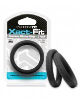 Perfect Fit Xact Fit #18 - Black Pack of 2