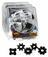MEGA STRETCH SILICONE PLEASURE RING(BOWL/72) BLACK