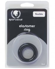 Spartacus Elastomer Relaxed Fit Cock Ring - Black