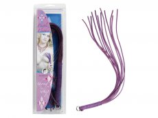 LEATHER THONG WHIP PURPLE 20IN