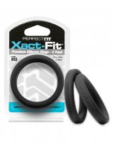 PERFECT FIT XACT-FIT #22 2 PK BLACK