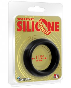 "Ignite Wide 1.5"" Silicone Donut - Black"