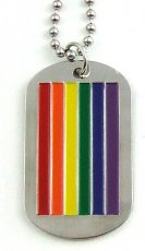 RAINBOW MILITARY I.D. TAG NECKLACE