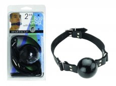 (WD) 2IN BLACK BALL GAG W/BUCK