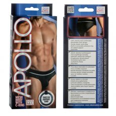 APOLLO MESH BRIEF W/CRING BLACK M/L