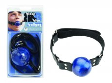 (WD) BLACK & BLUE BALL GAG 2IN RINGS