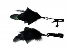 ALLIGATOR CLAMP BLACK FEATHER BLACK