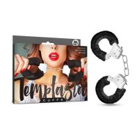 TEMPTASIA FURRY BLACK CUFFS