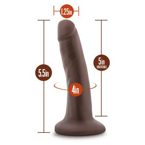 DR SKIN 5.5 COCK W/ SUCTION CUP CHOCOLATE ""