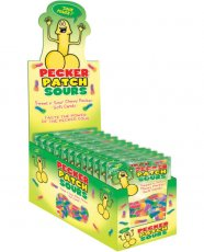 Pecker Patch Sour Gummies Display of 12
