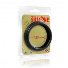 (WD) WIDE SILICONE DONUT BLACK 2.25IN