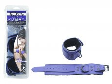WRIST RESTRAINTS W/FUR PURPLE