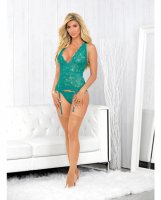 Strapped Back Bustier w/Hose Caribbean Green SM