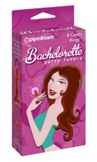 BACHELORETTE CANDY RINGS 8PC